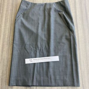 Theory grey pencil skirt